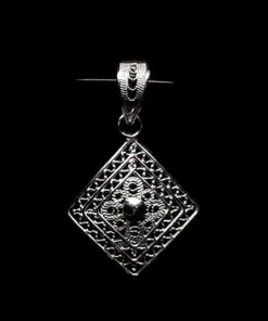 "Handmade Pendant ""Balance"" Filigree Silver Jewelry from Cyprus"