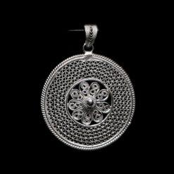 "Handmade Pendant ""Cosmos"" Filigree Silver Jewelry from Cyprus"