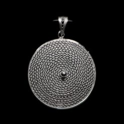 "Handmade Pendant ""Moon"" Filigree Silver Jewelry from Cyprus"