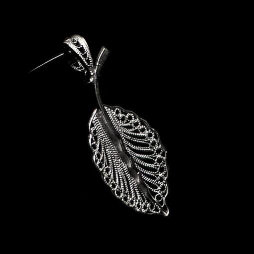 "Handmade Pendant ""Eros"" Filigree Silver Jewelry from Cyprus"