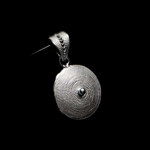 "Handmade Pendant ""Sun"" Filigree Silver Jewelry from Cyprus"