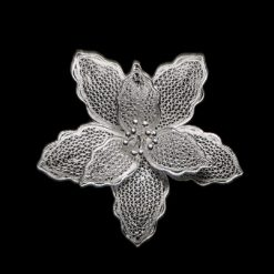 "Handmade Pendant ""Iris"" Filigree Silver Jewelry from Cyprus"