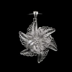 "Handmade Pendant ""Euphoma"" Filigree Silver Jewelry from Cyprus"