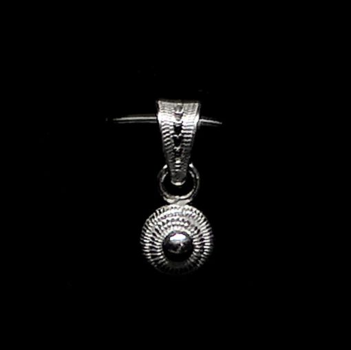 "Handmade Pendant ""Singularity"" Filigree Silver Jewelry from Cyprus"
