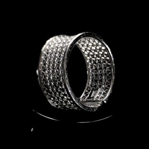 "Handmade Ring ""New Moon"" Filigree Silver Jewelry from Cyprus"
