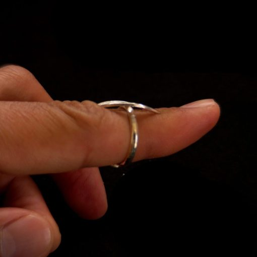"""Handmade Ring """"Wave"""" Filigree Silver Jewelry from Cyprus"""