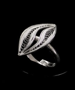 "Handmade Ring ""Wave"" Filigree Silver Jewelry from Cyprus"
