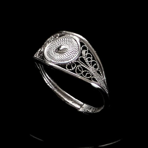 "Handmade Ring ""Sun"" Filigree Silver Jewelry from Cyprus"