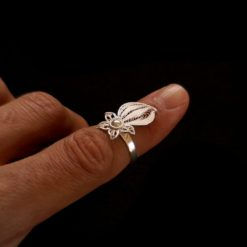 "Handmade Ring ""Falling Star"" Filigree Silver Jewelry from Cyprus"