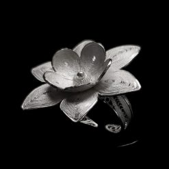 "Handmade Ring ""Polaris"" Filigree Silver Jewelry from Cyprus"