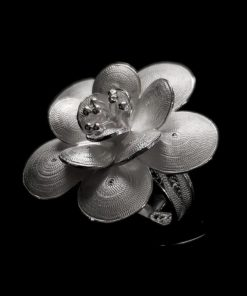 "Handmade Ring ""Regen"" Filigree Silver Jewelry from Cyprus"