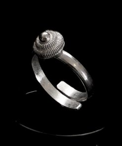 "Handmade Ring ""Dahlia"" Filigree Silver Jewelry from Cyprus"