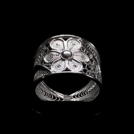"Handmade Ring ""Stellar"" Filigree Silver Jewelry from Cyprus"