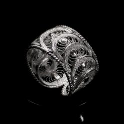 "Handmade Ring ""Infinity"" Filigree Silver Jewelry from Cyprus"