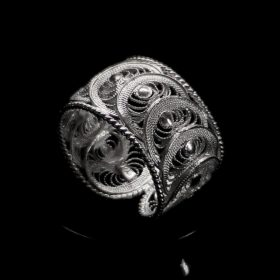 """Handmade Ring """"Infinity"""" Filigree Silver Jewelry from Cyprus"""