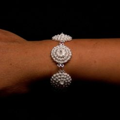 "Handmade Set ""Dahlia"" Filigree Silver Jewelry from Cyprus"
