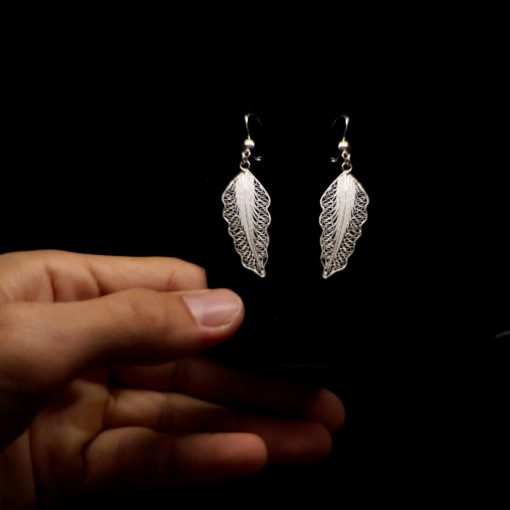 """Handmade Set """"Wing"""" Filigree Silver Jewelry from Cyprus"""