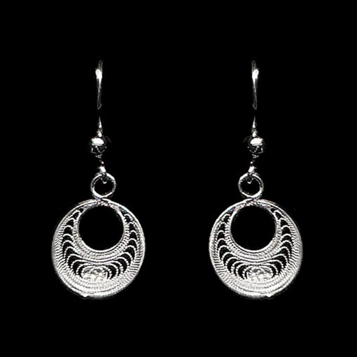 "Handmade Set ""Eclipse"" Filigree Silver Jewelry from Cyprus"