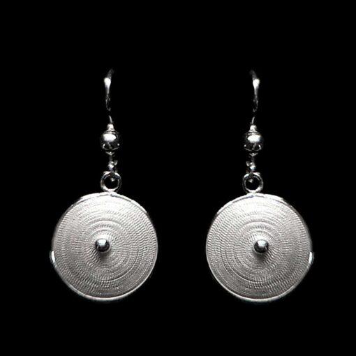 "Handmade Set ""Sun"" Filigree Silver Jewelry from Cyprus"