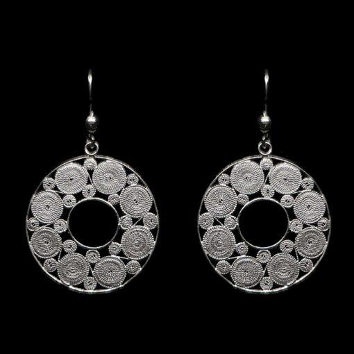 "Handmade Set ""Accretion"" Filigree Silver Jewelry from Cyprus"