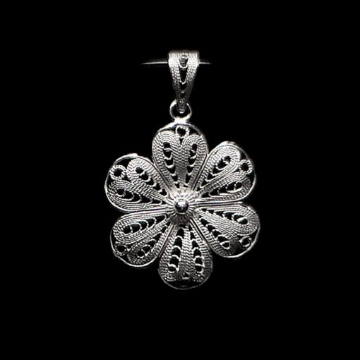 "Handmade Set ""Hepatica"" Filigree Silver Jewelry from Cyprus"