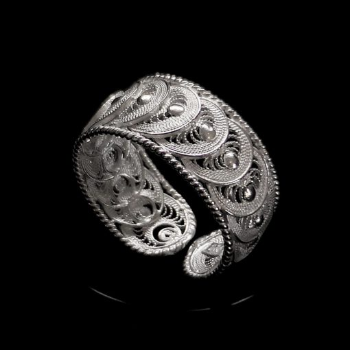 "Handmade Set ""Infinity"" Filigree Silver Jewelry from Cyprus"