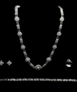 "Handmade Set ""Central"" Filigree Silver Jewelry from Cyprus"