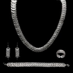 "Handmade Set ""Infinity"" Filigree Silver Jewelry from Cyprus"