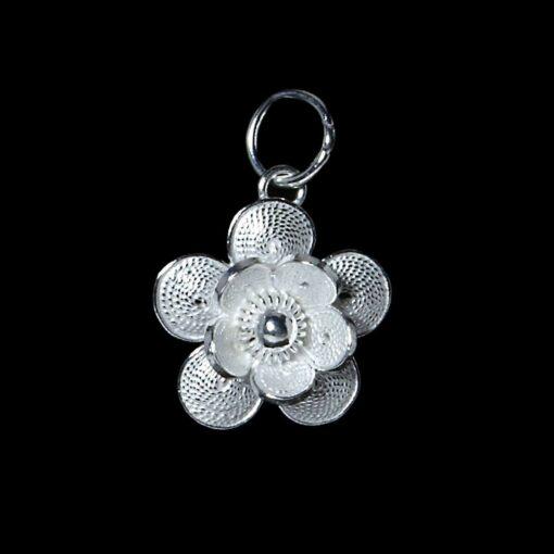 "Handmade Pendant ""Petite"" Filigree Silver Jewelry from Cyprus"