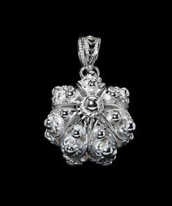 "Handmade Pendant ""United"" Filigree Silver Jewelry from Cyprus"