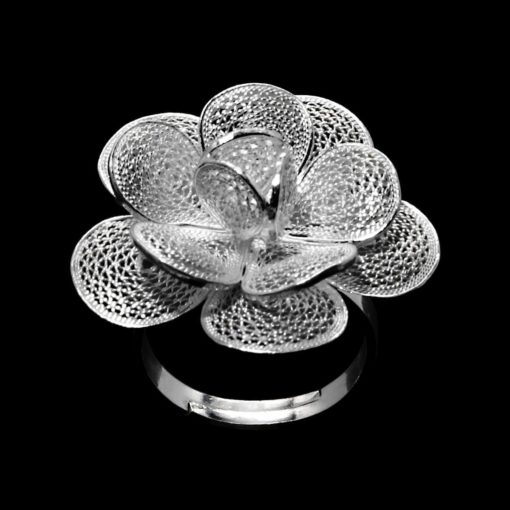 "Handmade Ring ""Hope"" Filigree Silver Jewelry from Cyprus"
